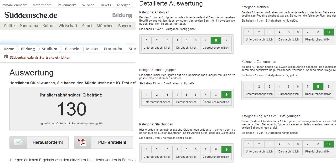 Süddeutsche IQ 130 | Bewusstes Lernen